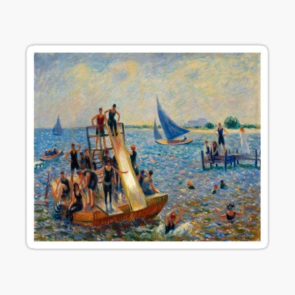 The Raft, William James Glackens, 1915 Sticker