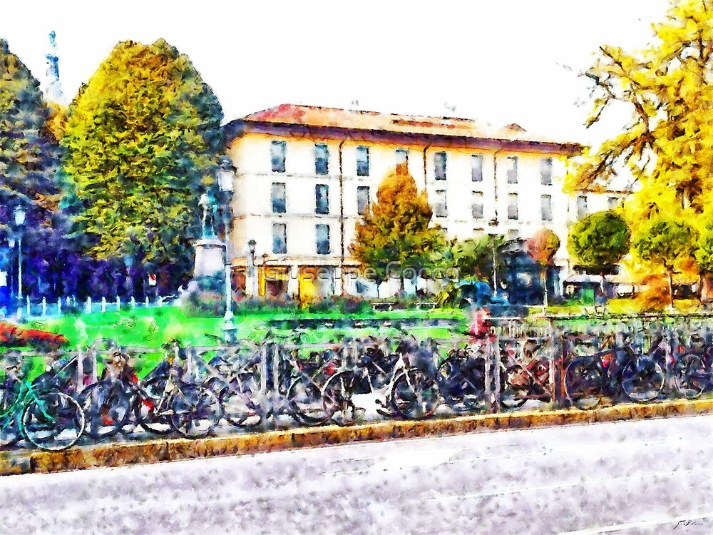 Arona: bicycles parked by Giuseppe Cocco