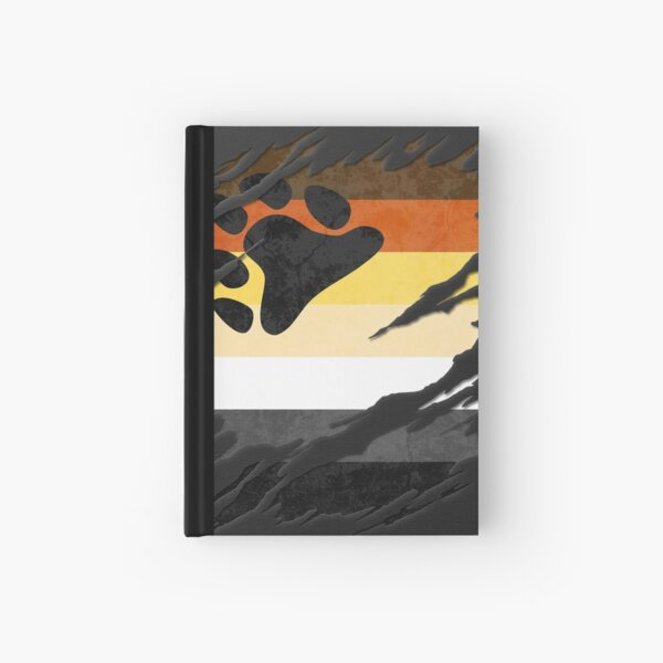 Gay Bear Pride Flag Ripped Reveal Hardcover Journal