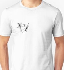 Ouch My Wrist Tattoo Outline Unisex T-Shirt
