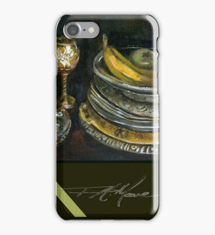 China Cabinet Still Life I. FA Moore Signature design, in Dark Olive iPhone Case/Skin