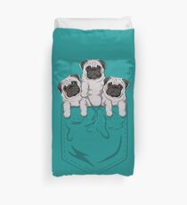 Pocket Pug Duvet Cover