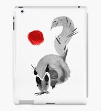 watercolor squirrel. Watercolor hand drawn brush vector  iPad Case/Skin