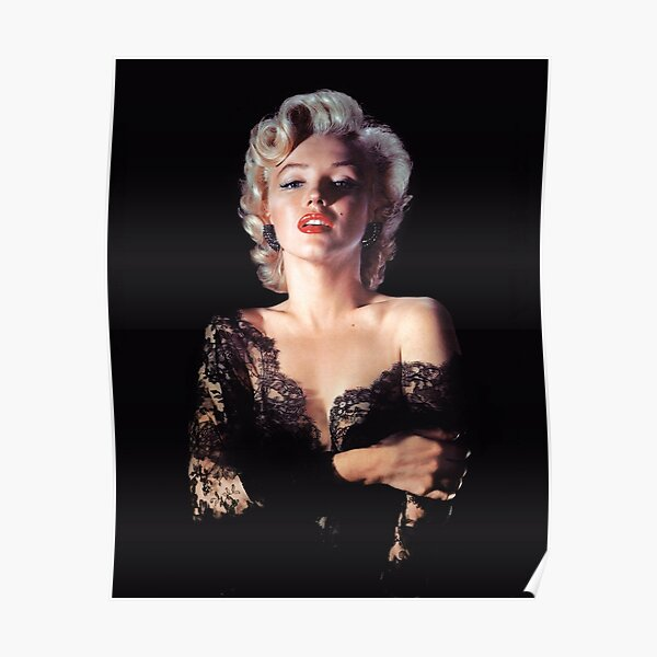 Marilyn Monroe in Lace Poster