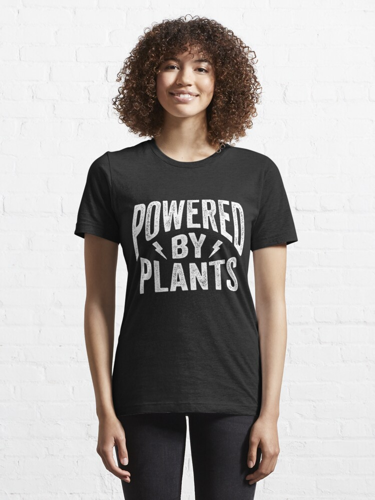 Alternate view of Powered by Plants Shirt Go Vegan T-Shirt Gift Essential T-Shirt
