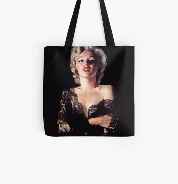 Marilyn Monroe in Lace All Over Print Tote Bag
