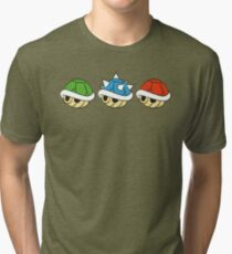 Mario Kart Items- Shells Tri-blend T-Shirt
