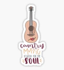 Country Music is Good for the Soul with Guitar Sticker