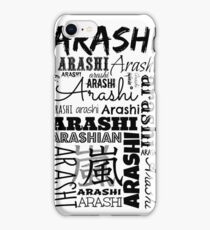 Arashi Text iPhone Case/Skin