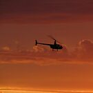 Copter at Sunset by Gloria Abbey