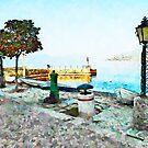 Arona: coast of lake by Giuseppe Cocco