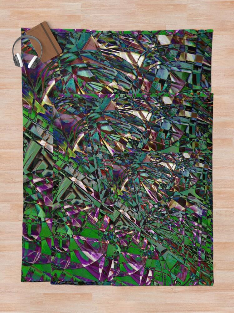 Alternate view of Kaleidoscope #15 Throw Blanket