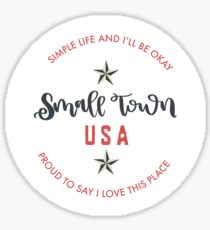 Small Town USA Sticker