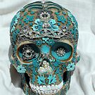 Teal Gem Skull by Rita  H. Ireland