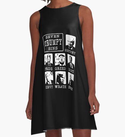 Seven Trumpy Sins A-Line Dress