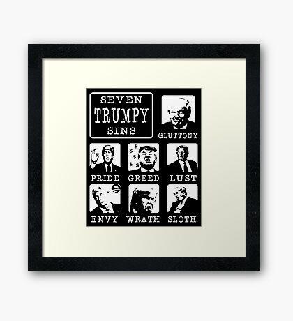 Seven Trumpy Sins Framed Print