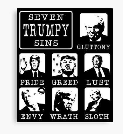 Seven Trumpy Sins Canvas Print