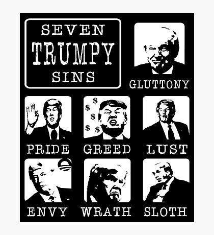 Seven Trumpy Sins Photographic Print
