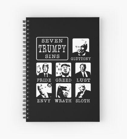 Seven Trumpy Sins Spiral Notebook