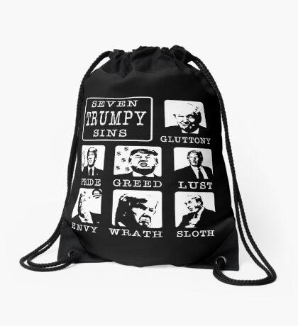 Seven Trumpy Sins Drawstring Bag