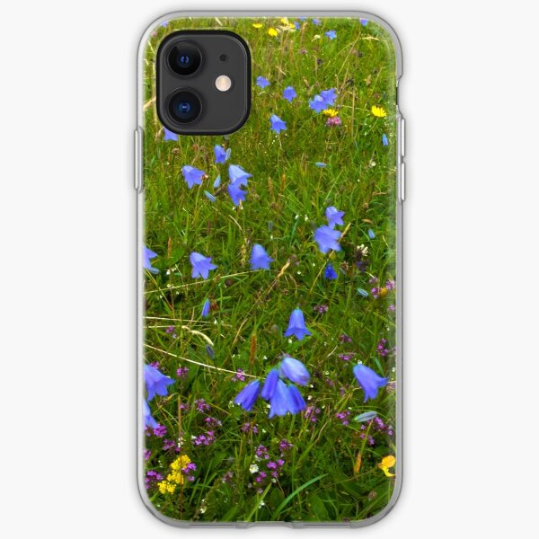 A sea of Harebells, Rossbeg, Co Donegal iPhone Soft Case