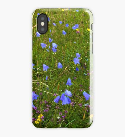 A sea of Harebells, Rossbeg, Co Donegal iPhone Case