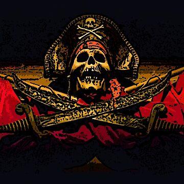 Pirate Skull by CLIFFBLACK