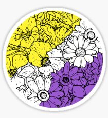 Non binary flowers Sticker