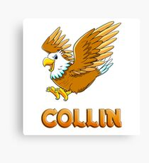 Collin Eagle Sticker Canvas Print