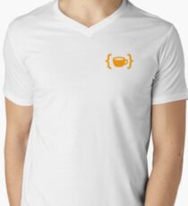 Morning Cup of Coding - Cup Men's V-Neck T-Shirt