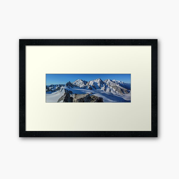 AIguille du Tour French Alps summit panorama  Framed Art Print