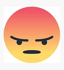 Facebook Angry Face Emoji Photographic Print