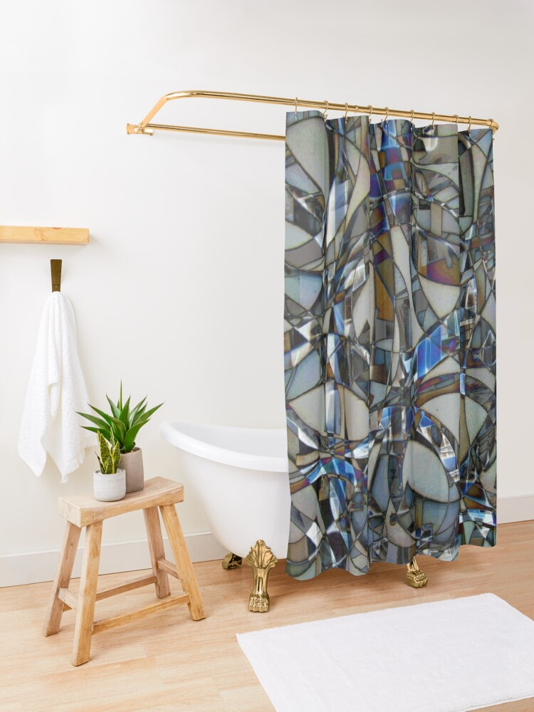 Alternate view of Kaleidoscope #14 Shower Curtain