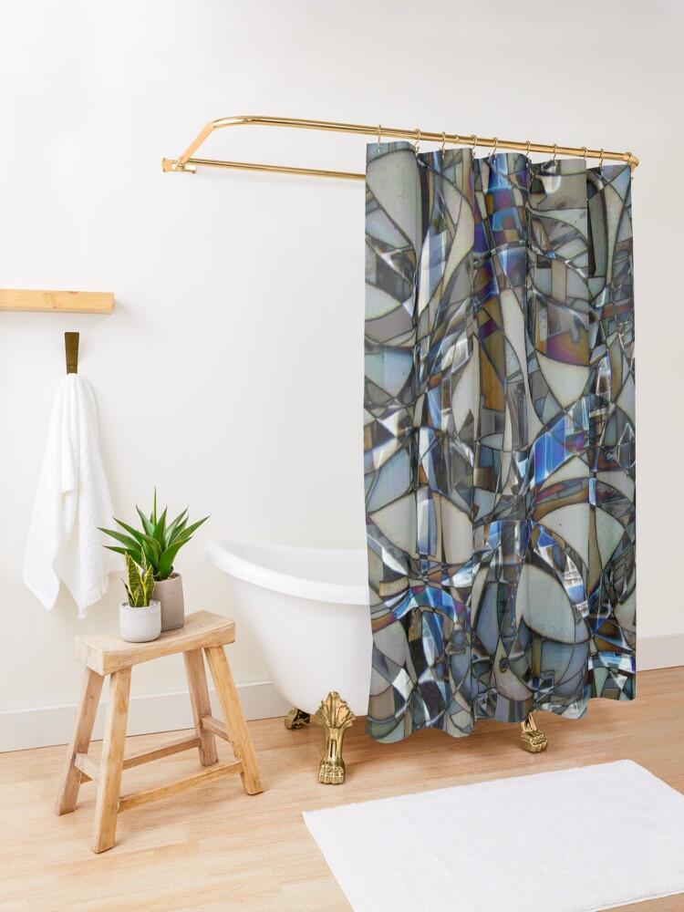 Alternate view of Kaleidoscope #14 Shower Curtain