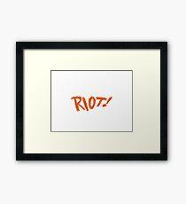 Paramore Riot Framed Print