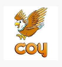 Coy Eagle Sticker Photographic Print