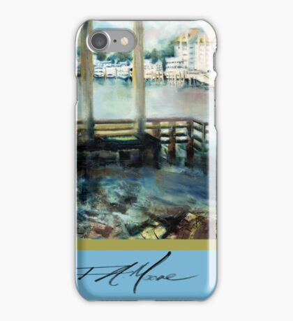 Gone Fishing. FA Moore Signature design, in Fisher Blue iPhone Case/Skin