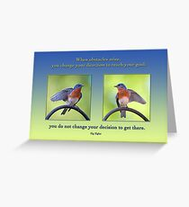 Changing Direction Greeting Card