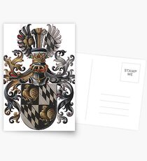 Transparent Background - Red Coat of Arms  Postcards