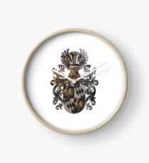 Transparent Background - Red Coat of Arms  Clock