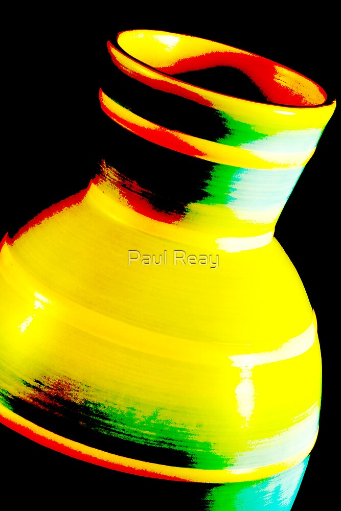 Abstract vase by Paul Reay