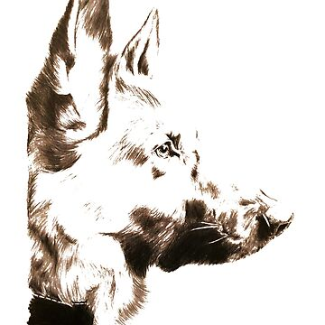 German Shepherd by Octobersart
