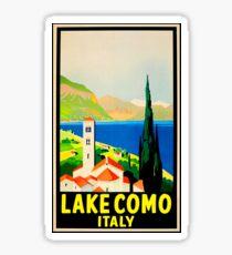 Lake Como Italy Vintage Travel Sticker