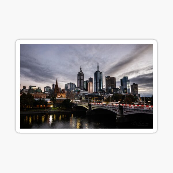 Melbourne at Daybreak Sticker