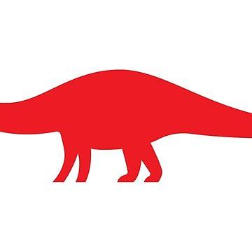 Minimal Brontosaurus by anatotitan