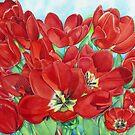 Red Tulips by joeyartist