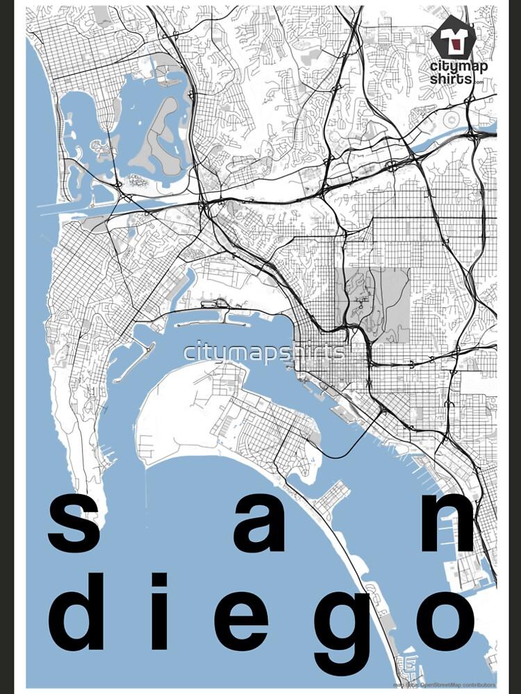 San go hipster city map black/white