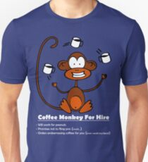 Coffee Monkey For Hire T-Shirt