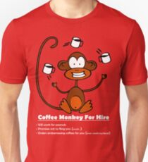 Coffee Monkey For Hire Unisex T-Shirt
