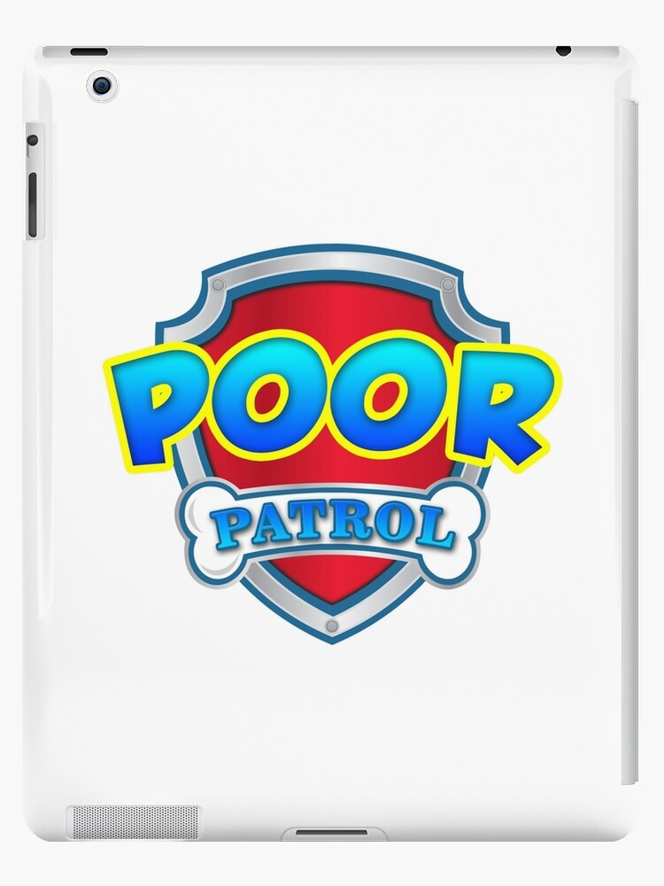 Poor Paw Patrol Logo Badge Stop Tory Cuts Protest T Shirt Police